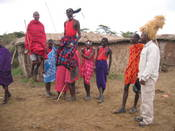 Highlight for Album: Maasai Mara, KenyaMaasai Village