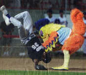 This photo appeared on the front page of the El Paso Times sports section...I'm the baseball player...